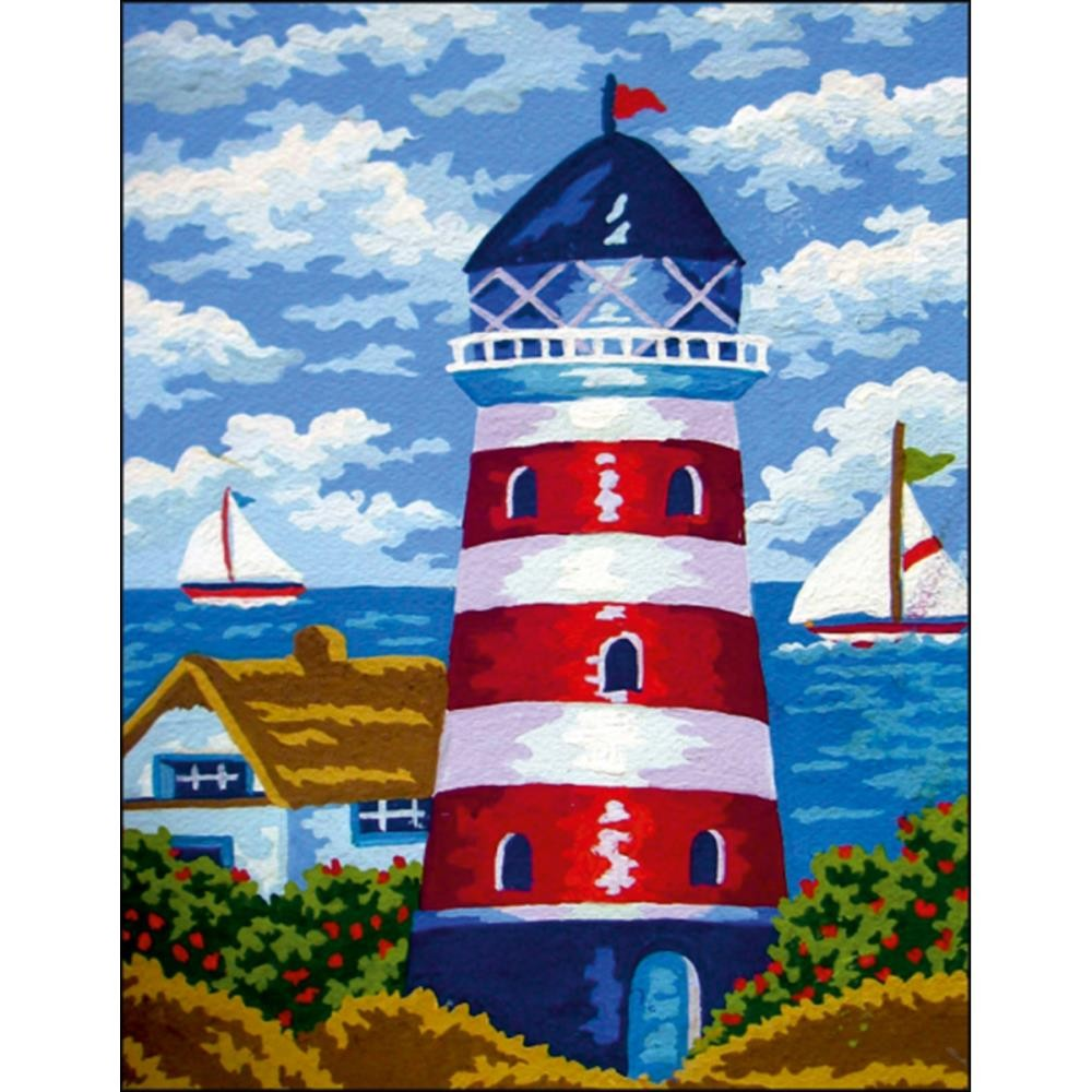 Набор для вышивки - Collection D'Art Stamped Needlepoint Kit  Lighthouse