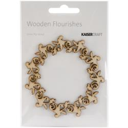 Деревянные украшения KaiserCraft Wood Flourishes Rose Wreath (FL443)